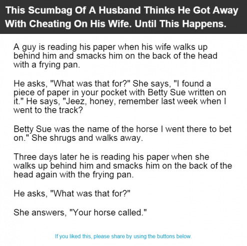 wife gets caught cheating on husband