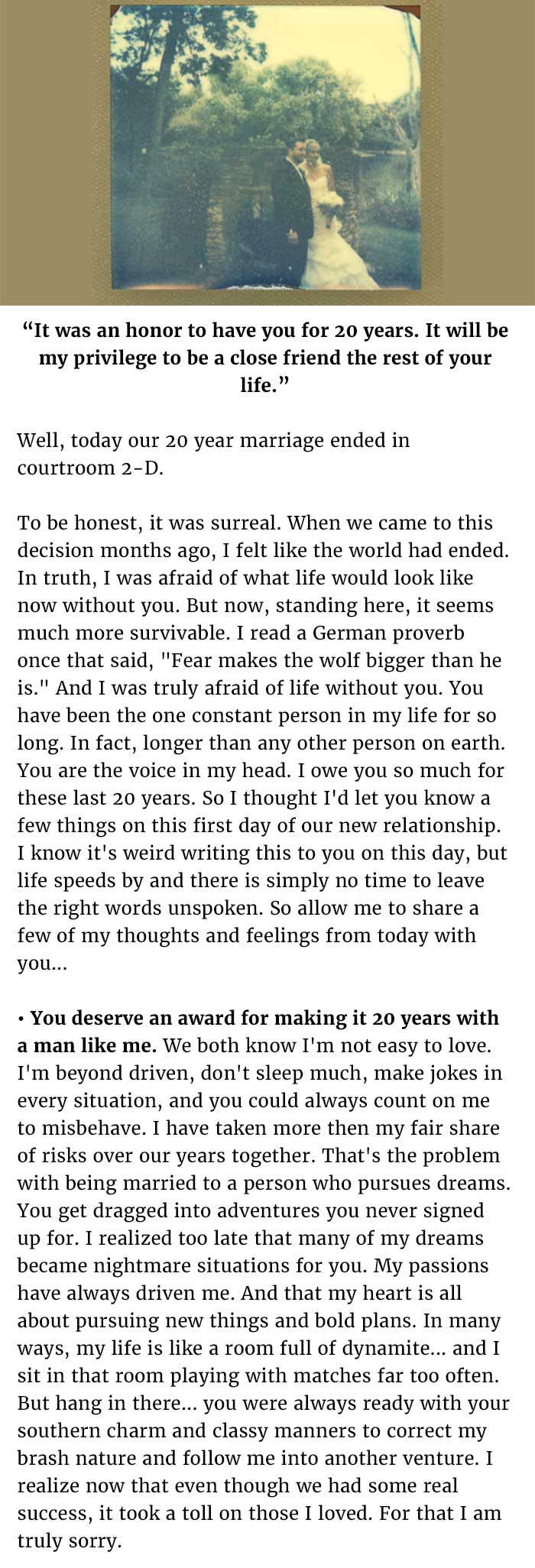 letter to my husband before divorce
