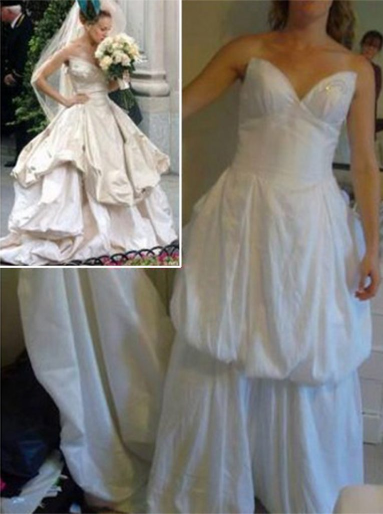 wedding dress nightmare.jpg / Aggrieved brides who have taken to social networks to share their online-bought wedding dress nightmares. A growing number of websites offer cheap copies of designer gowns - but brides often disappointed when real dress looks nothing like original / Source: INTERNET