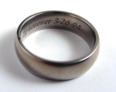 they want their wedding bands engraved but this did something