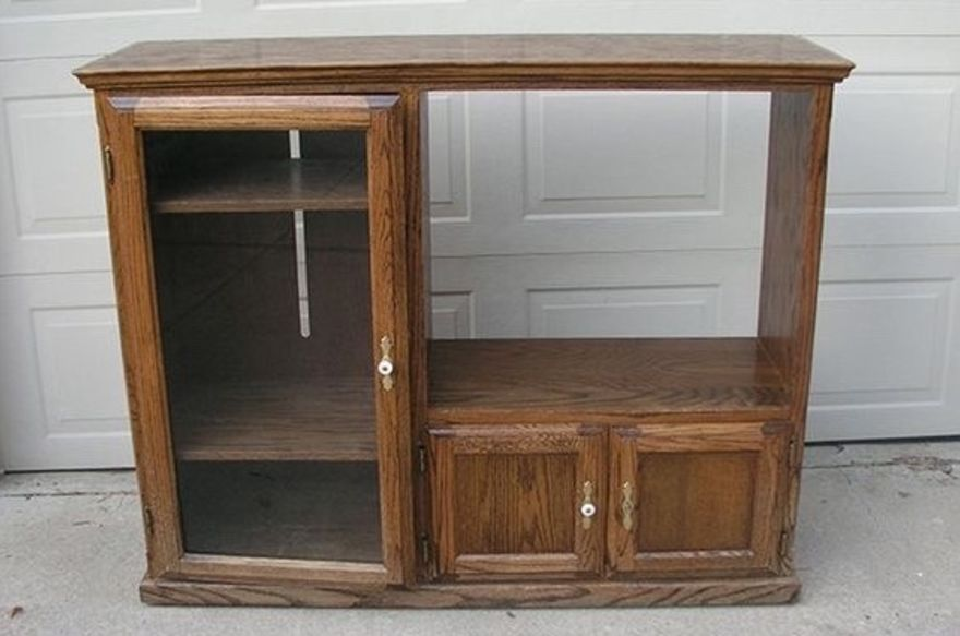 She Had To Remove And Replace A Few Hinges For Her Idea To Work! Of Course,  She Needed To Replace The Glass Door With Something A Little More  Sturdyu2026she ...