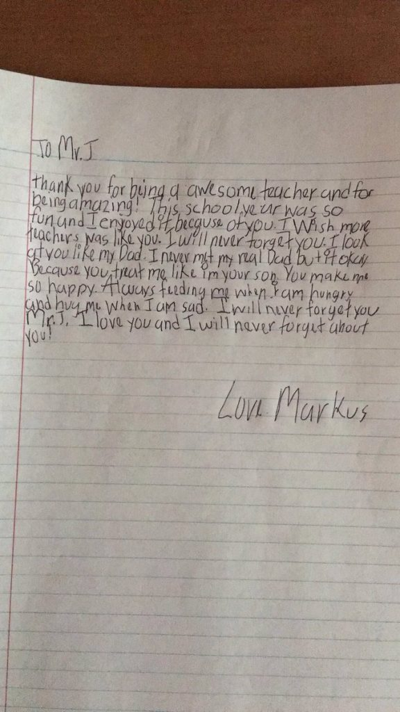 Letter From Teacher To Students End Of The Year